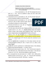 Derivative Application Sums