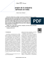 Expansion de La Industria Del Software en India