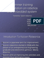 Introduction to Kaizen Robeonics