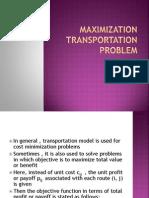 7 Maximization Transportation Problem