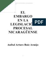 El Embargo En La Legislación Procesal Nicaragüense
