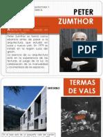 51129910 Peter Zumthor Termas Vals