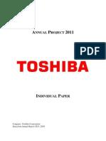 Financial Analysis for Toshiba