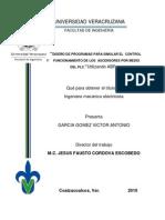 Diseño de programas para simular el control y funcionamiento de ascensores por medio del PLC