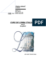 Curs de Limba Italian 2006 2007 Nivel i