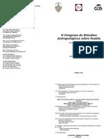 program II Congreso de Estudios Antropológicos sobre Puebla  2012