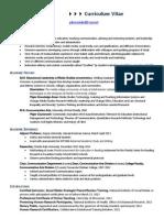 Dr John Weidert Curriculum Vitae Resume