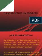 Elaboracion de Un Proyecto