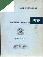 US Navy Foundry Manual 1958