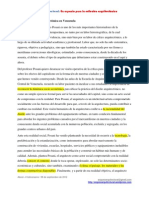 Posani y La Critica Arquitectonica de Venezuela