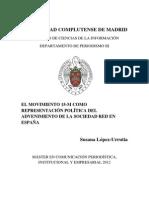 El 15M como representación política del advenimiento de la sociedad red en España