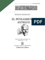 9000894 Rodolfo Mondolfo El Pensamiento Antiguo