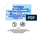 Setting Up Healthcare Services Information Systems