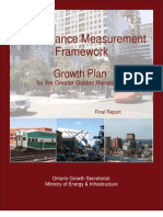 Performance Measurement Framework for the Growth Plan for the Golden Horseshoe