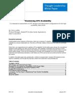 11663 Maximizing UPS Availability