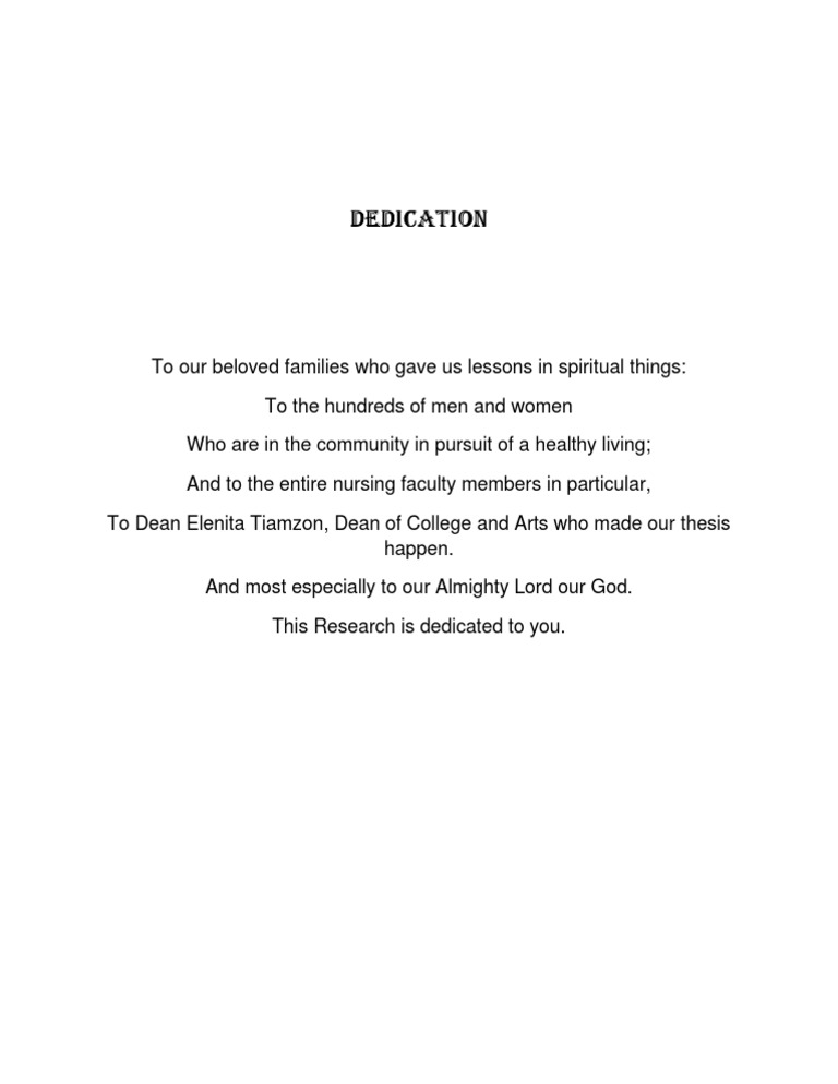 Dedications for thesis