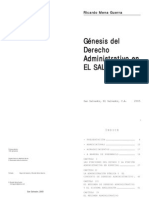 Gnesis Del Derecho Administrativo en El Salvador Ricardo Mena Guerra 1
