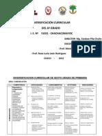 Diversificacion Curricular Sexto Grado 2012(3)