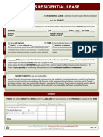 Texas Residential Lease Form