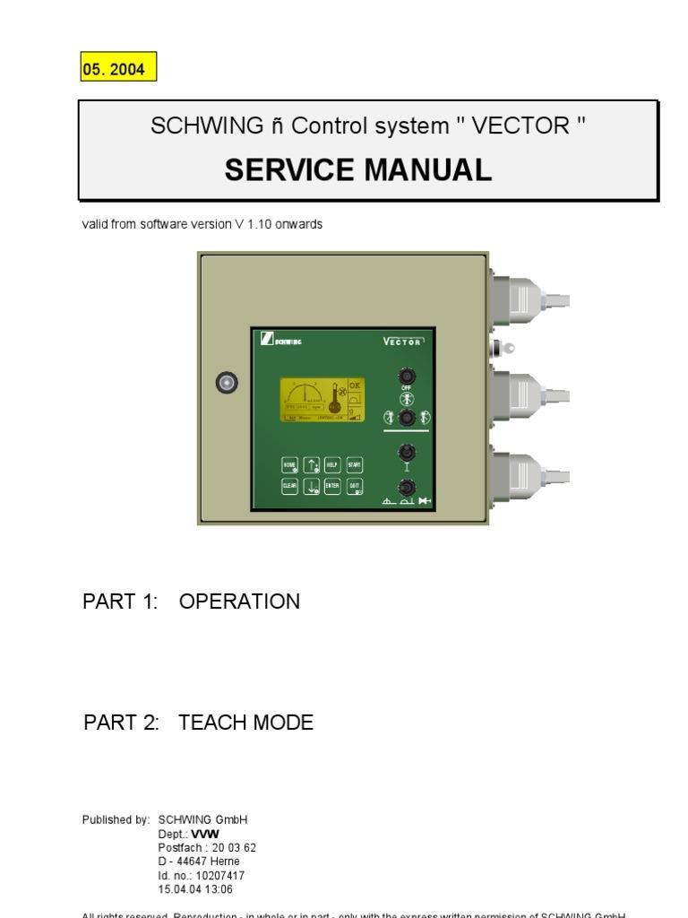 vector manual pump diesel engine rh scribd com Schwing Concrete Pumps Schwing Concrete Pumps