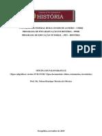 Oficina de Paleografia II - (Tipos caligráficos séculos XVII-XVIII  Tipos documentais óbitos, testamentos, inventários)