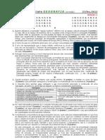 2011-12 (4) TESTE 10º GEOG A [FEV - CRITÉRIOS CORREÇÃO] (RP)