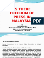 Is There Freedom of Press in Malaysia