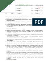 2011-12 (5) TESTE 10º GEOG A [MAR - CRITÉRIOS CORREÇÃO] (RP)