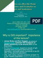 Gluten-Induced Neurological Disease Feb 8 2011