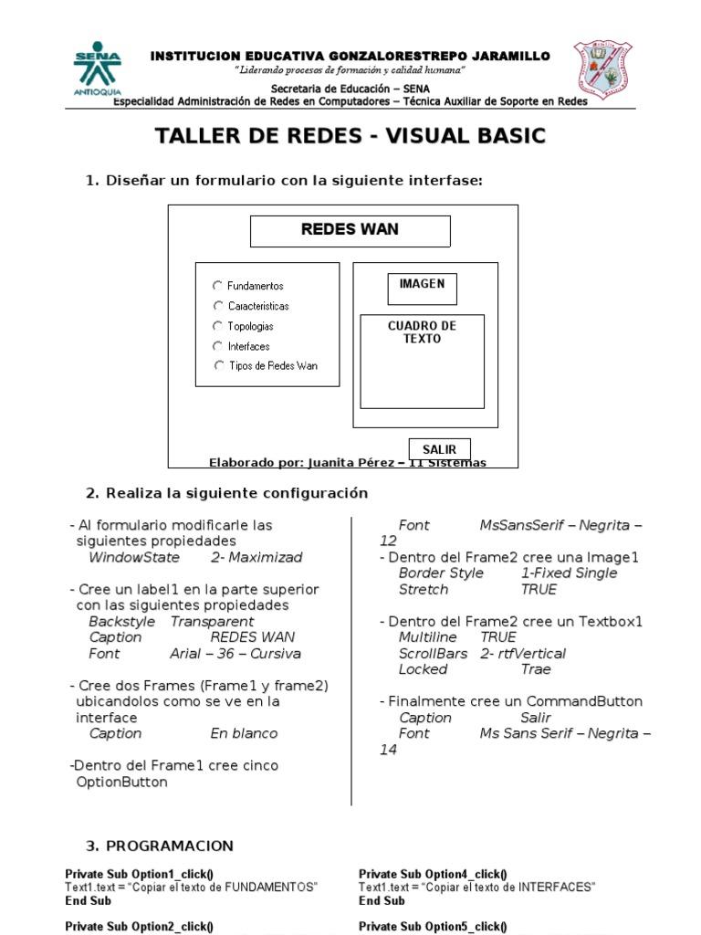 Taller de Redes - Visual Basic