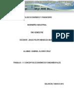 1.1 Conceptos económicos fundamentales