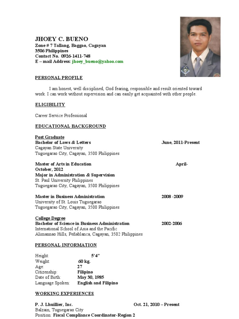 Sample resume format download jhoeybueno resume thecheapjerseys Image collections