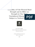 Variability of Unit Flexural Bond