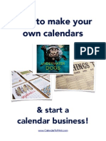 How To Make Your Own Calendars & Start A Calendar Business!