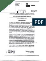 Resolución 1167 de 08-02-2013