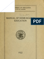 1922 - Manual of Home-making Education