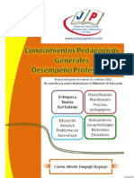 LIBRO - CONOCIMIENTOS PEDAGÓGICOS PARA CONTRATOS 2012