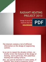 Radiant Heating Project 2013 of JJplumbinghvac.com