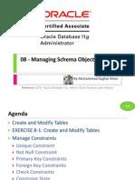 OCA 08 - Managing Schema Objects
