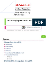 OCA 09 - Managing Data and Concurrency