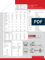 Hino 145 Specification Sheet