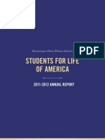 2011-2012 Students for Life of America Annual Report