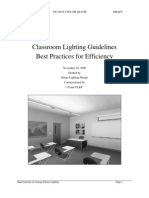 Classroom Lighting Guidelines