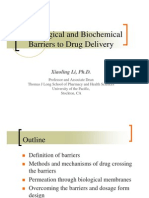 Physiological Barriers to Drug Absorption