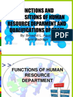 1 Function of Hr Department