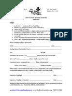 JVBrooks Scholarship Application