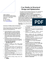 Case Studies in Structural Design and Optimization (1)