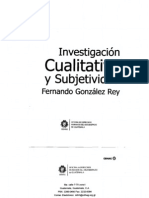 INVESTIGACION CUALITATIVA y Subjetividad - Fernando Gonzáles