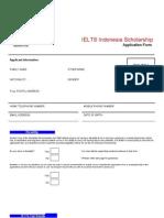 IELTS Indonesia Scholarship Application Form September 2012