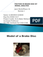 Crack Detection in Brake Disc by Modal Analysis